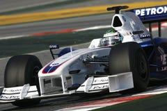 F1 2009 - BMW Sauber van Heidfeld van de Inkeping Stock Foto