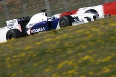 F1 2009 - BMW Sauber van Heidfeld van de Inkeping Royalty-vrije Stock Afbeelding