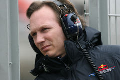 F1 2009 - Christian Horner Red Bull Stock Foto's