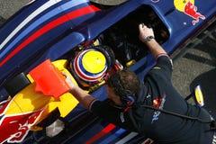F1 2009 - Contrassegni Webber Red Bull Immagine Stock