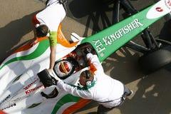 F1 2009 - Força India de Adrian Sutil Foto de Stock