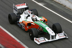 F1 2009 - Force Inde d'Adrian Sutil photos stock