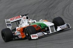 F1 2009 - Fuerza la India de Adrian Sutil Fotografía de archivo libre de regalías