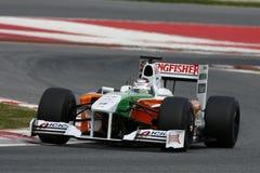 F1 2009 - Fuerza la India de Adrian Sutil Fotos de archivo