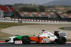 F1 2009 - Fuerza la India de Adrian Sutil Imagenes de archivo