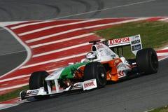 F1 2009 - Fuerza la India de Adrian Sutil Fotografía de archivo