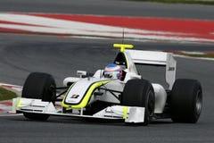 F1 2009 - Généraliste de pâté de cochon de Jenson Button Photo stock