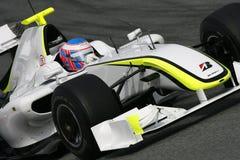 F1 2009 - GP de Hoofdkaas van Jenson Button Royalty-vrije Stock Foto