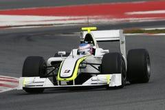 F1 2009 - GP de Hoofdkaas van Jenson Button Stock Afbeeldingen