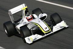 F1 2009 - GP de Hoofdkaas van Rubens Barrichello Stock Foto's