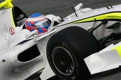 F1 2009 - GP del queso de cerdo de Jenson Button Fotos de archivo