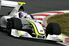 F1 2009 - Jenson Button Brawn GP. Jenson Button, Brawn GP BGP001, during Formula One test in Barcelona - March 2009 stock images