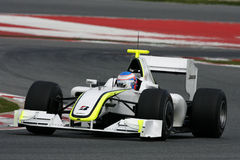 F1 2009 - Jenson Button Brawn GP Stock Photo