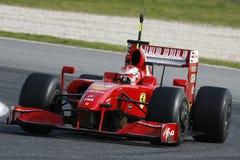 F1 2009 - Kimi Raikkonen Ferrari Fotografie Stock Libere da Diritti