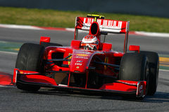 F1 2009 - Kimi Raikkonen Ferrari photos stock