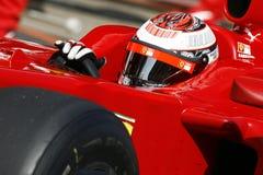 F1 2009 - Kimi Raikkonen Ferrari Stock Photography