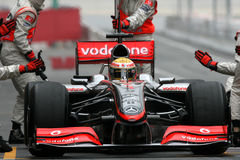 F1 2009 - Lewis Hamilton McLaren Royalty Free Stock Photography