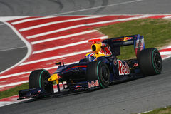 F1 2009 - Mark Webber Red Bull Stock Images