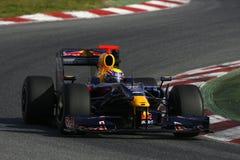 F1 2009 - Markieren Sie Webber Red Bull Lizenzfreie Stockfotografie