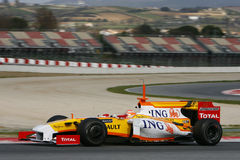 F1 2009 - Nelson Piquet Renault Stock Photo