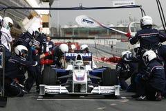 F1 2009 - Nick Heidfeld BMW Sauber. Nick Heidfeld, BMW Sauber F109 during Formula One test in Barcelona - March 2009 Stock Image