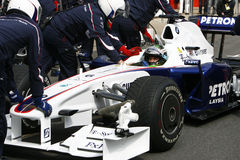 F1 2009 - Nick Heidfeld BMW Sauber Royalty Free Stock Images