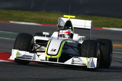 F1 2009 - Rubens Barrichello Brawn GP Royalty Free Stock Photo