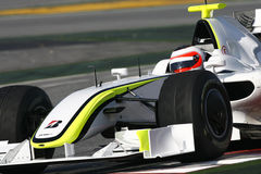 F1 2009 - Rubens Barrichello Brawn GP. Rubens Barrichello, Brawn BGP001, during Formula One test in Barcelona - March 2009 Stock Photos