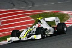 F1 2009 - Rubens Barrichello Brawn GP. Rubens Barrichello, Brawn BGP001, during Formula One test in Barcelona - March 2009 Stock Image
