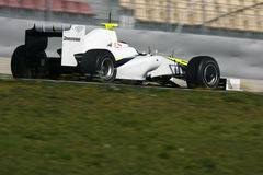 F1 2009 - Rubens Barrichello Brawn GP Royalty Free Stock Photography