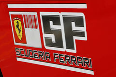 F1 2009 - Scuderia Ferrari atmospere Royalty Free Stock Photo