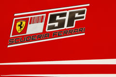 F1 2009 - Scuderia Ferrari atmospere. Scuderia Ferrari atmosphere, during Formula One test in Barcelona - March 2009 Stock Image