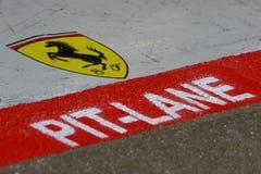 F1 2009 - Scuderia Ferrari atmospere Royalty Free Stock Image