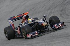F1 2009 - Sebastien Bourdais Toro Rosso. Sebastien Bourdais, Toro Rosso STR4 during Formula One test in Barcelona - March 2009 Royalty Free Stock Photos
