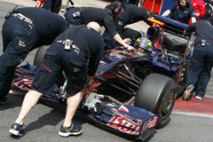 F1 2009 - Sebastien Bourdais Toro Rosso. Sebastien Bourdais, Toro Rosso STR4 during Formula One test in Barcelona - March 2009 Stock Photos