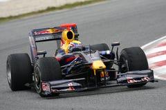 F1 2009 - Teken Webber Red Bull Royalty-vrije Stock Afbeelding