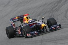 F1 2009 - Teken Webber Red Bull Stock Afbeeldingen