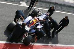 F1 2009 - Teken Webber Red Bull Royalty-vrije Stock Fotografie