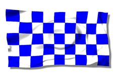F1. Formula 1 blue flag on the wind Stock Images