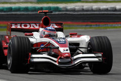 F1. Takuma Sato negotiating a turn at Sepang F1 Malaysia 2007 Grand Prix Stock Photo