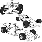 F1 auto vol.1 Royalty Free Stock Photos