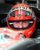 F1 bestuurder Michael Schumacher Stock Foto's