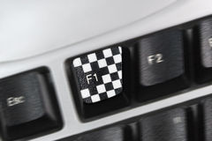 F1 button Stock Images