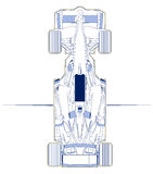 F1 car scheme top view Royalty Free Stock Images