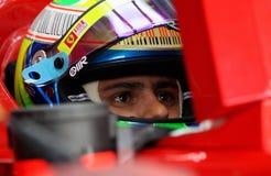 F1 de bestuurder van Felipe Massa Ferrari F1 van 2010 Stock Afbeeldingen