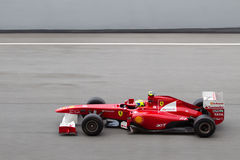 F1 driver Felipe Massa on a high speed straight Stock Image