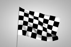 F1 flag. 3d rendered of a f1 flag Royalty Free Stock Photo