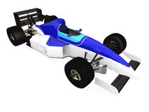 F1 green racing car vol 3 Stock Photos