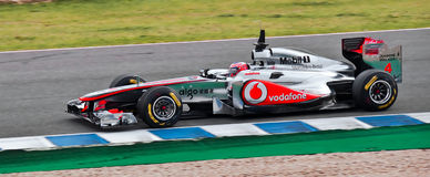 F1 Jenson Button of Scuderia McLaren Stock Photos