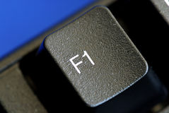 The F1 key represents Help or Assistance Royalty Free Stock Photos
